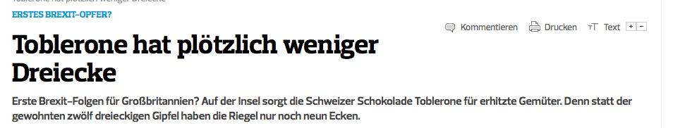 Kieler Nachrichten Toblerone
