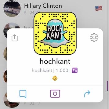 Hochkant Snapcode