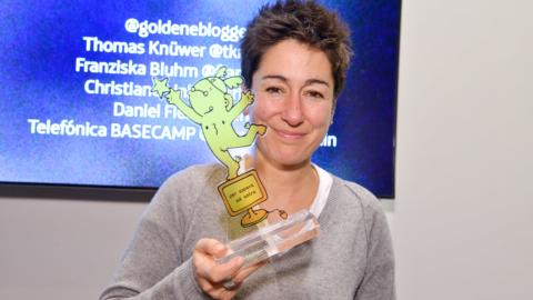 Dunja Hayali Goldenen Blogger 2016