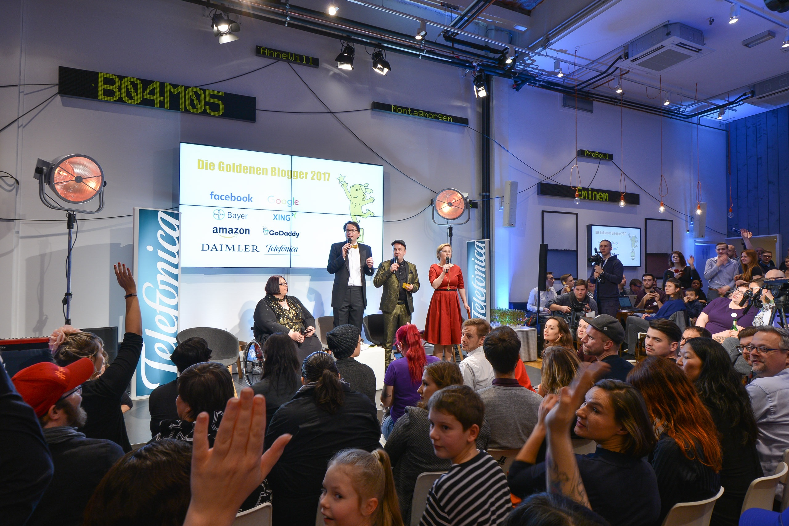Goldene Blogger 2017: Christiane Link, Thomas Knüwer, Daniel Fiene, Franziska Bluhm