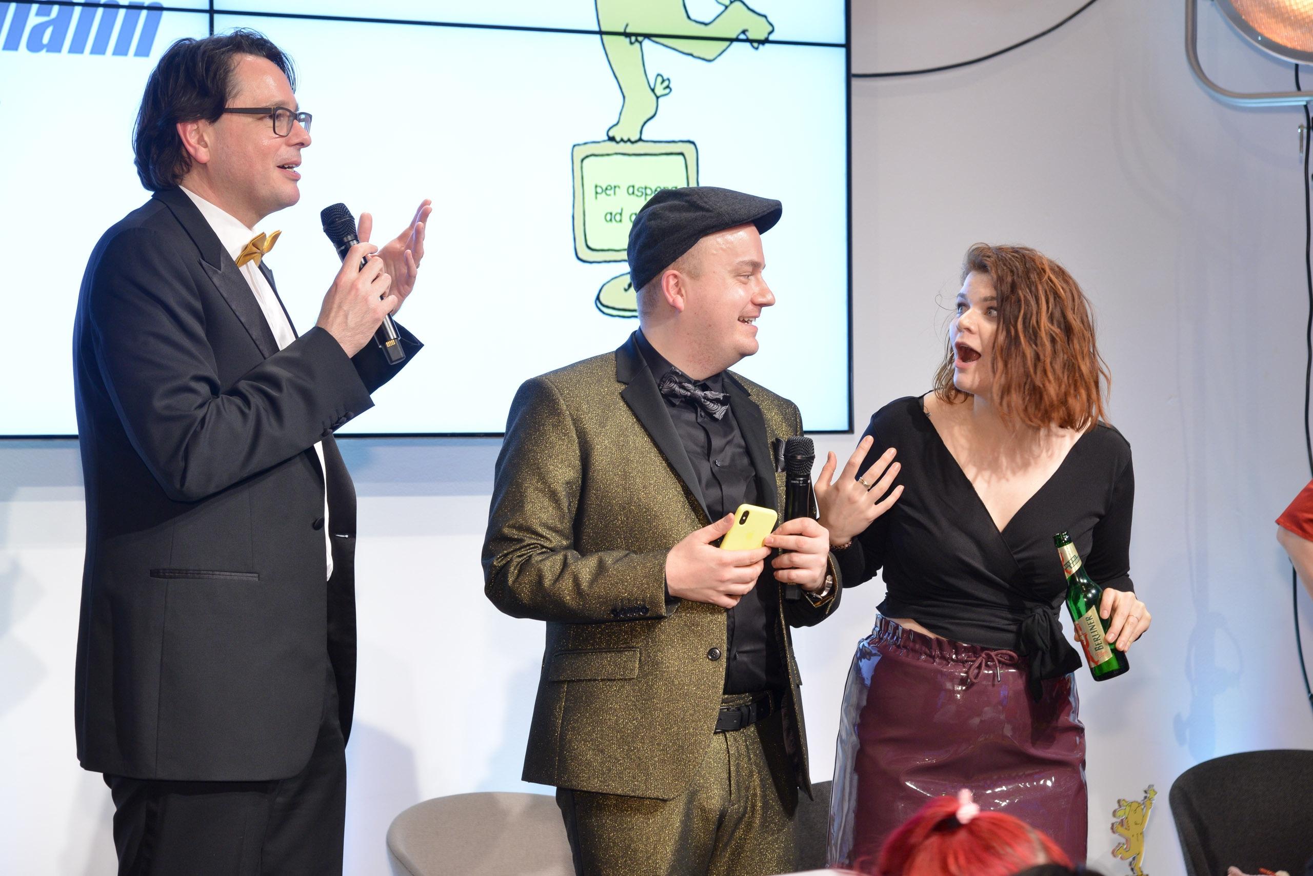 Goldene Blogger 2017: Thomas Knüwer, Daniel Fiene, Sophie Passmann