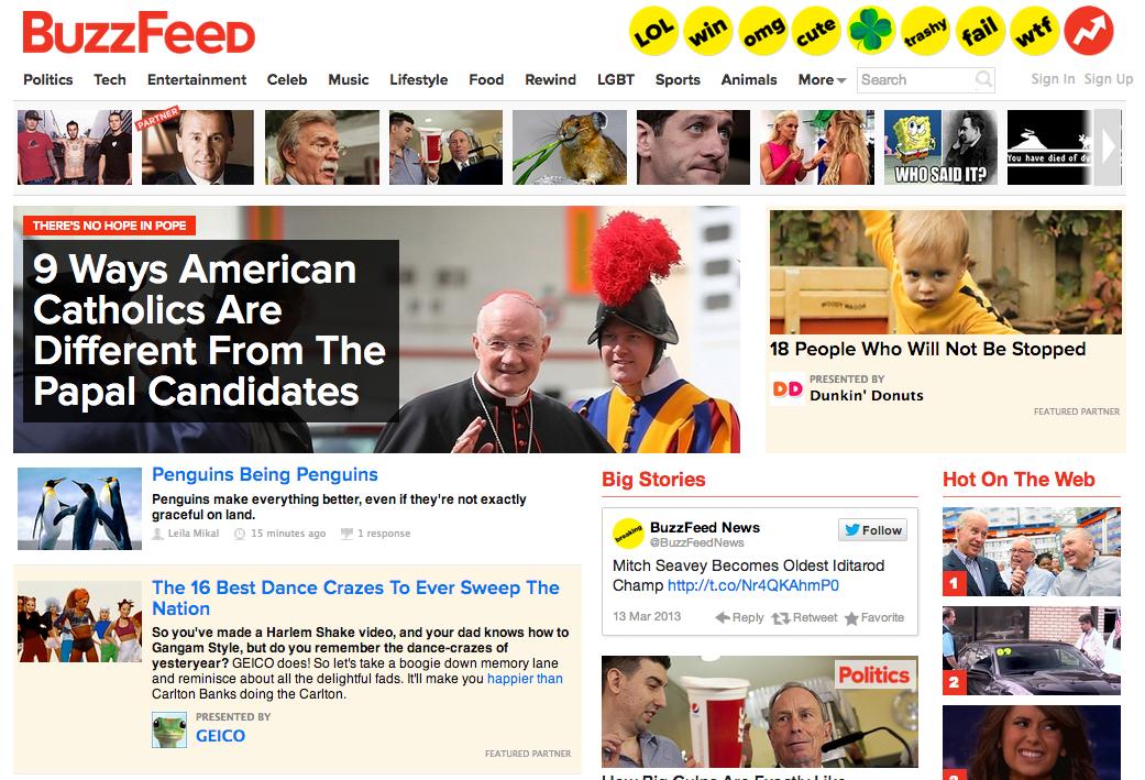 Sind sie von Buzzfeed
