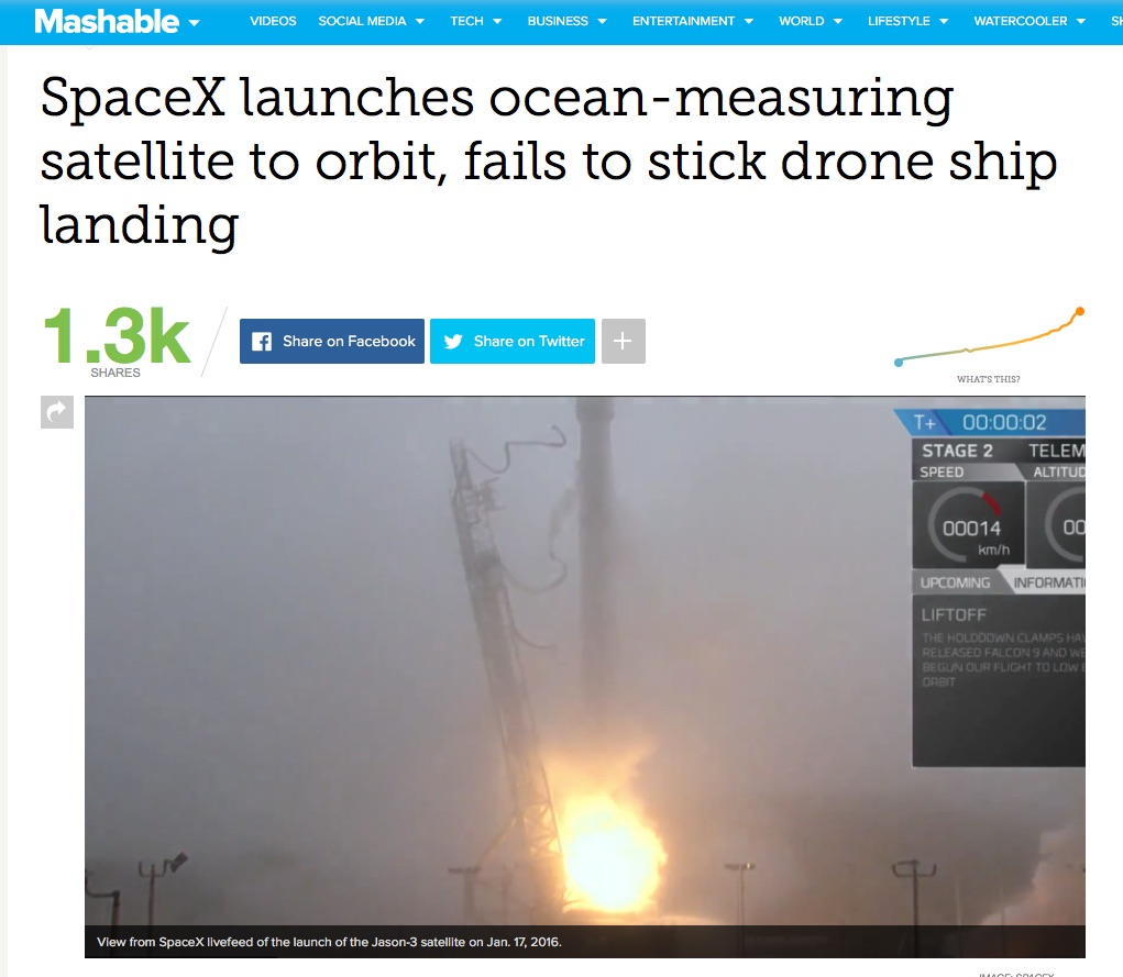 SpaceX Mashable
