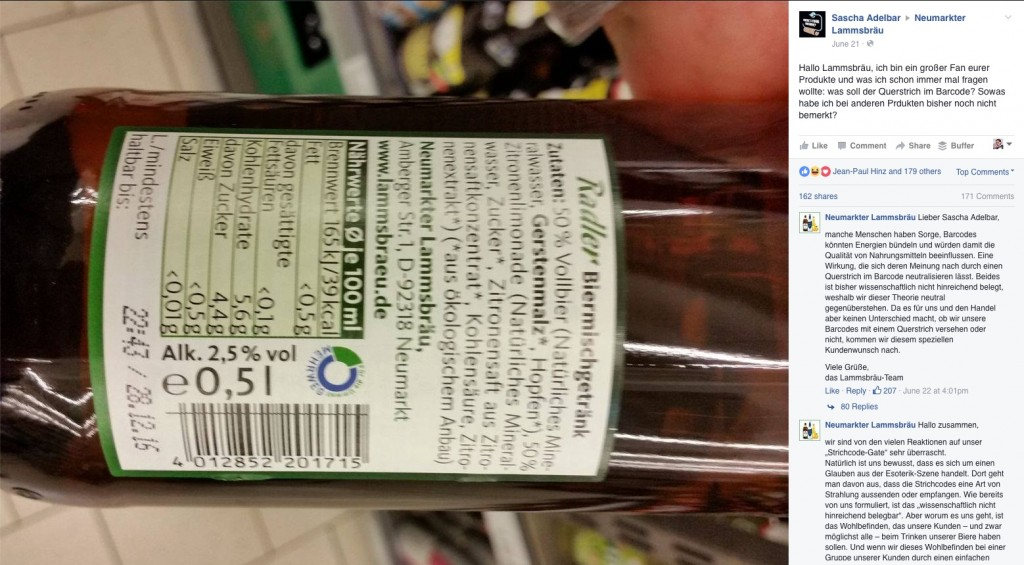 neumarkter lammsbräu barcode verschwörung