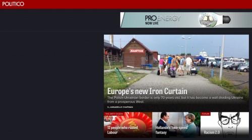politico homepage