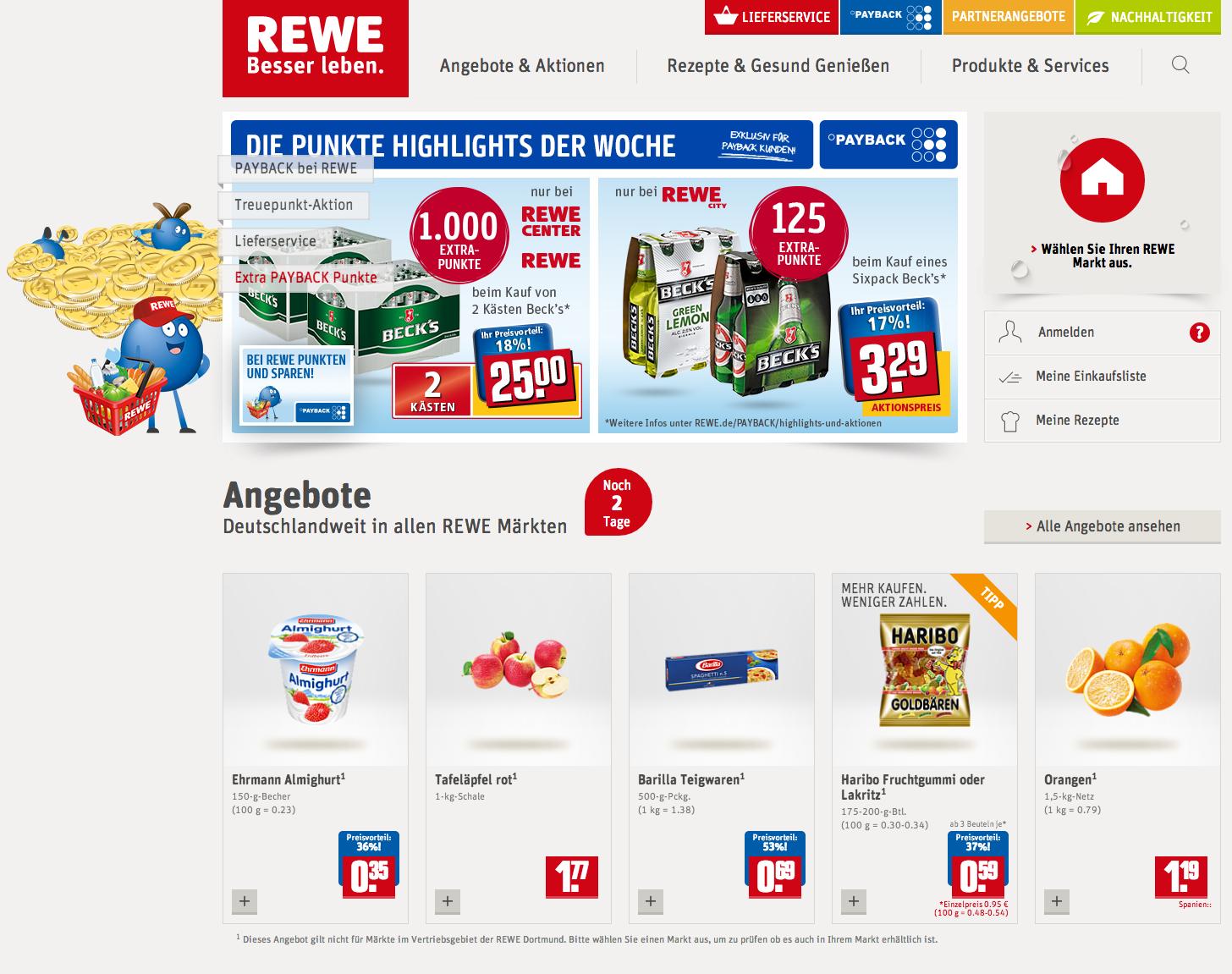 rewe homepage