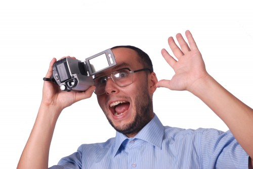shutterstock idiot video kamera